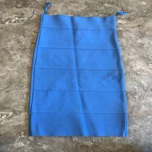 BCBGMAXAZRIA Blue Bandage Skirt | XS